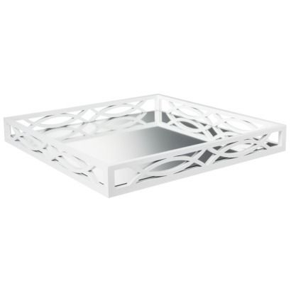 White Decorative Tray Love This White Mirrored Tray Perfect Piece To Stage A Coffee