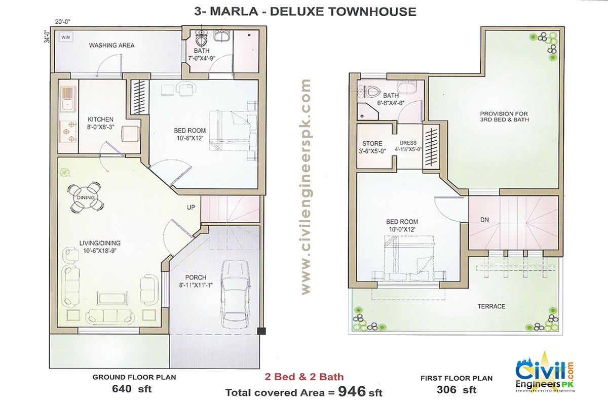 8 marla house plans in pakistan