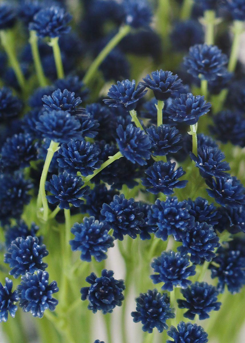 Dark Blue Natural Touch Baby S Breath Bush Dark Blue Flowers Blue Wedding Flowers Wedding Flower Arrangements