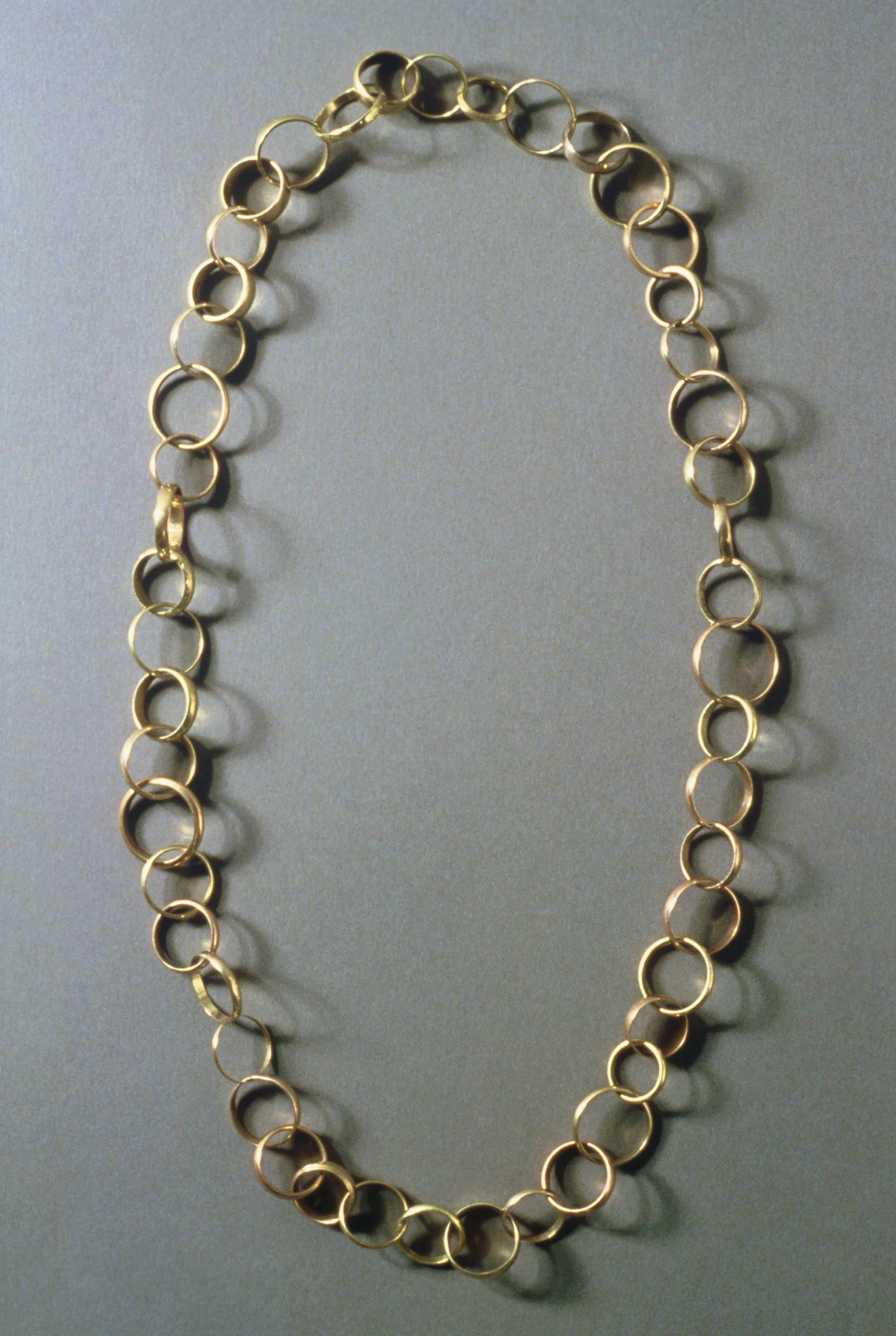 made of 48 used wedding rings Otto Kunzli Necklace
