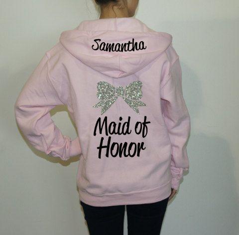 Cute Bridesmaid hoodies for your Bridal by BrideAndEntourage