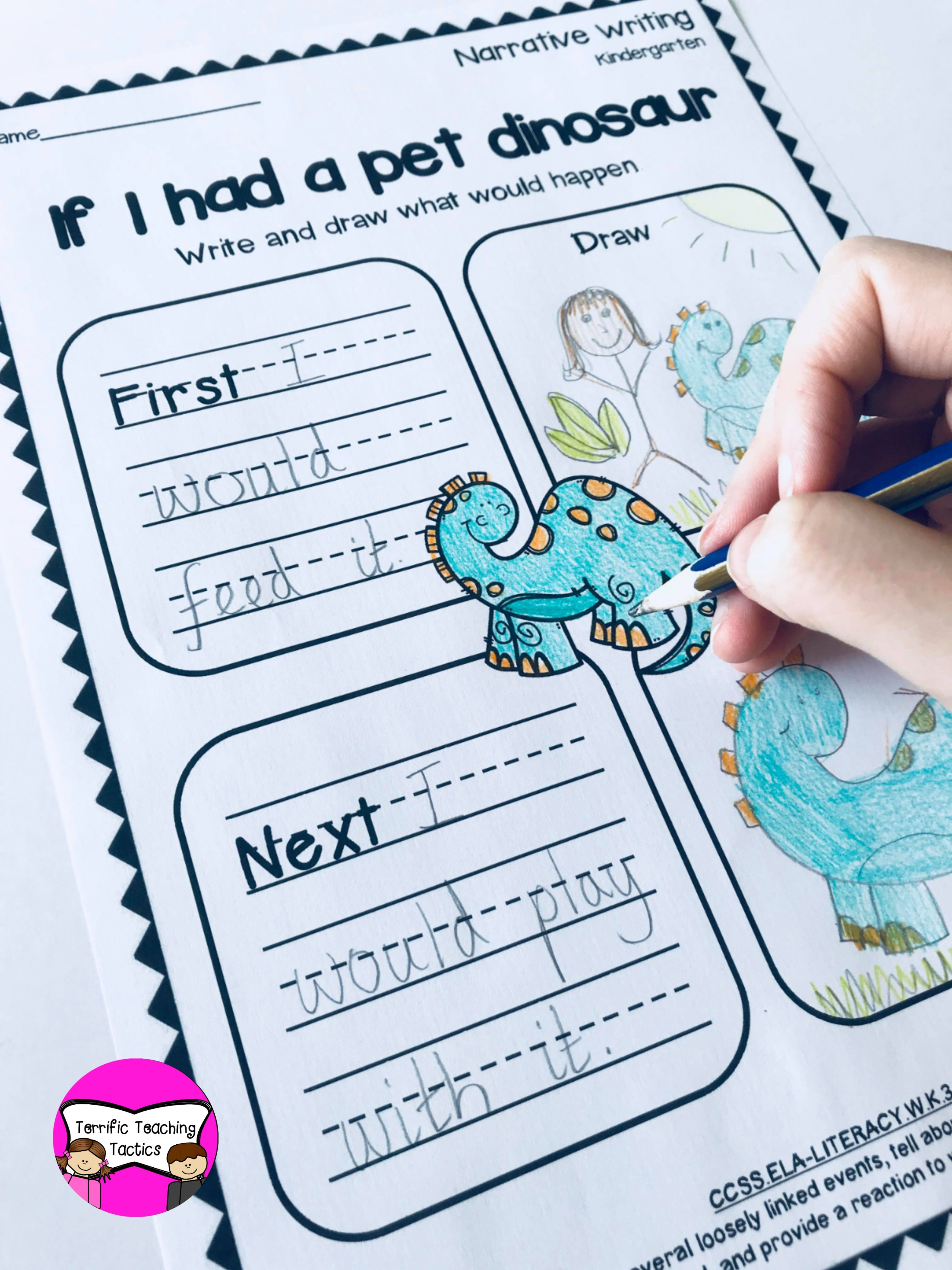 Kindergarten Narrative Writing Prompts Worksheets In