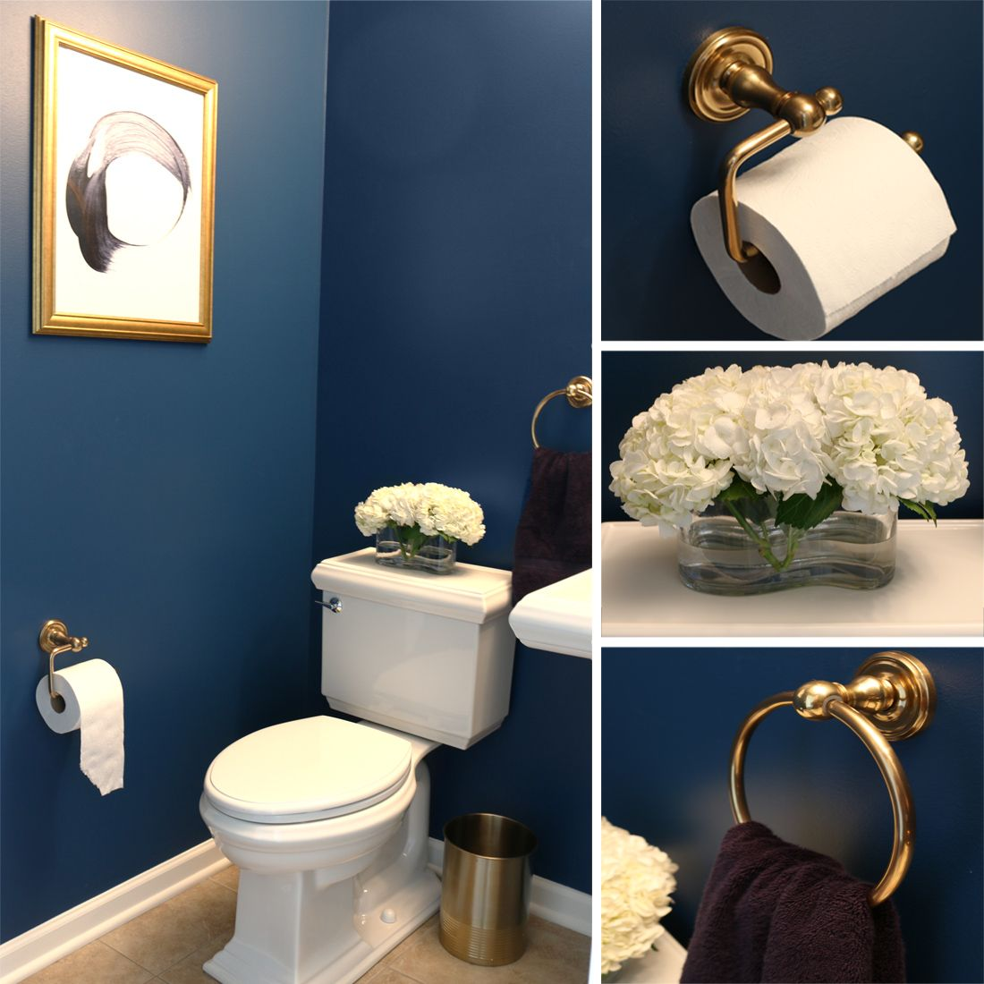 Dark Elegant Bathroom With Gold Accents Elegant Bathroom Luxury