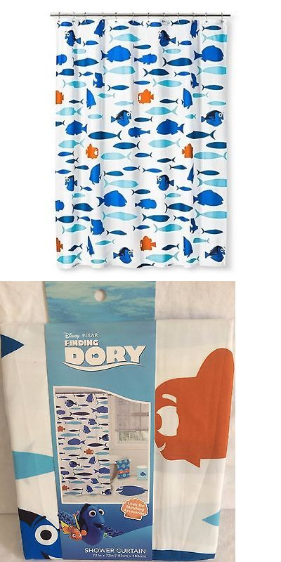 Bath 115624 Disney Pixar Finding Dory Shower Curtain 72 X 100 Polyester BUY IT NOW ONLY 1988 On EBay