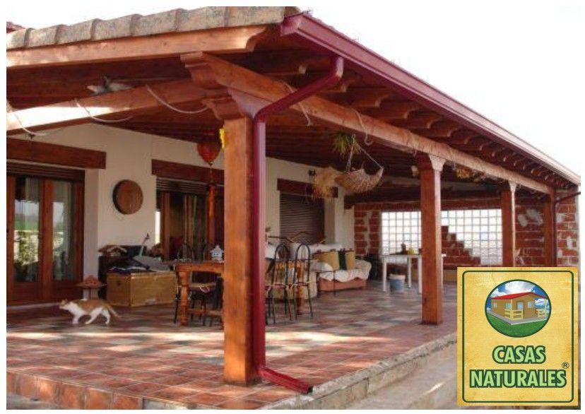 PERGOLA DE MADERA ADOSADA (MEDIDAS A CONVENIR) casa Pinterest