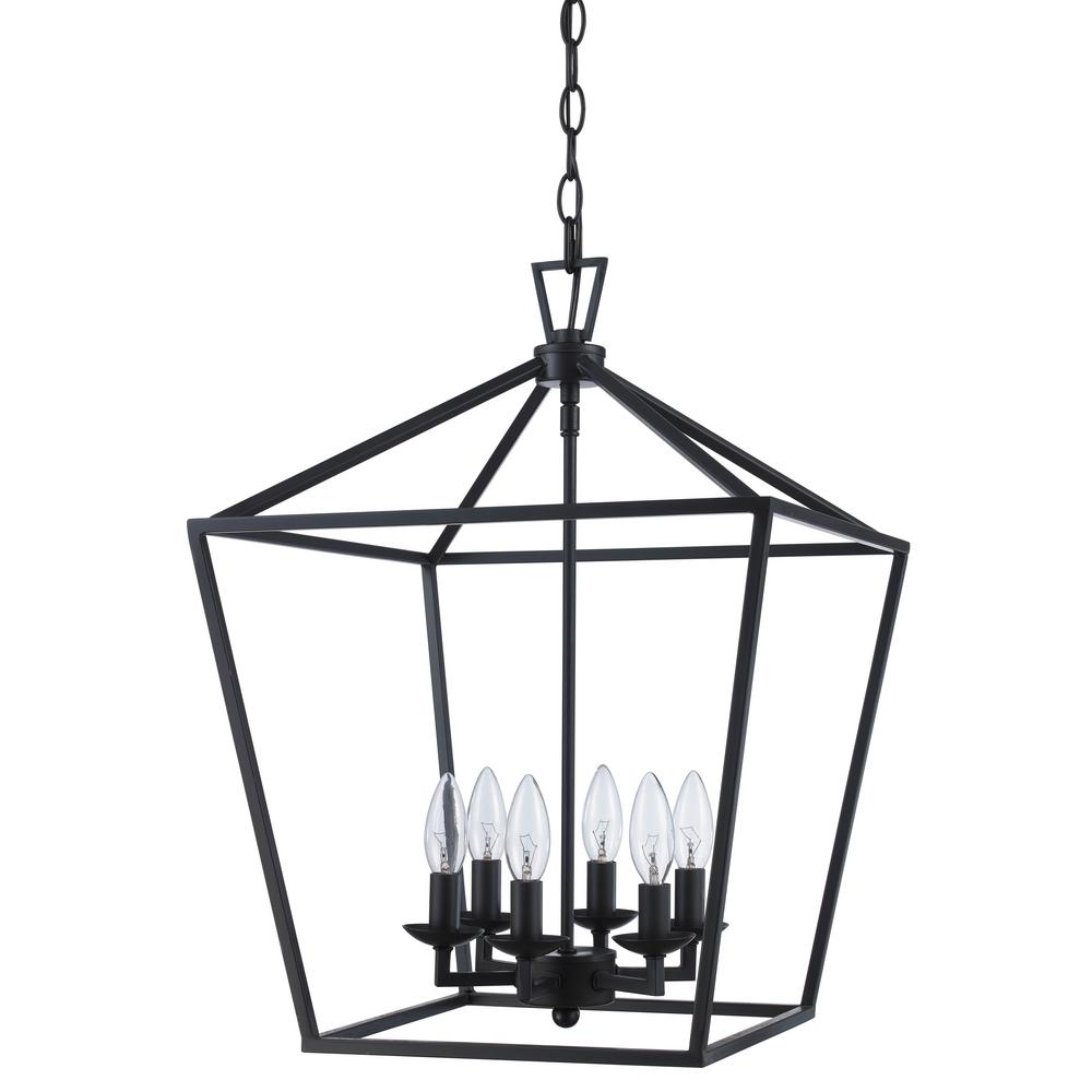 Bel Air Lighting Lacey 6 Light Rubbed Oil Bronze Pendant 10266 Rob The Home Depot