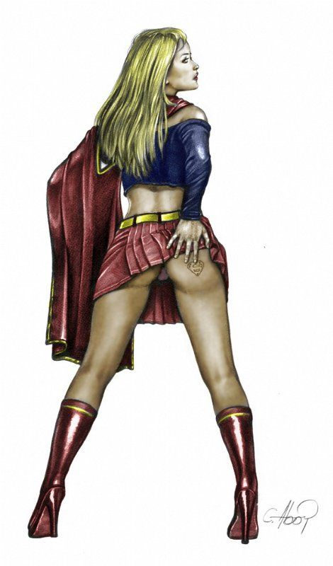 Upskirt Supergirl