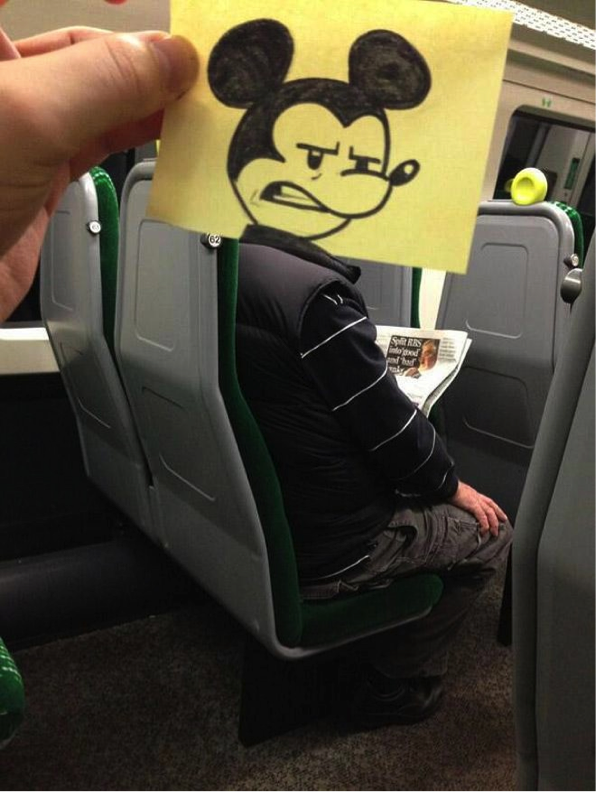 New Funny Drawings Friday Favorites this artist spends his train commute drawing funny drawings that replace his fellow commuters' heads {so funny!} 10