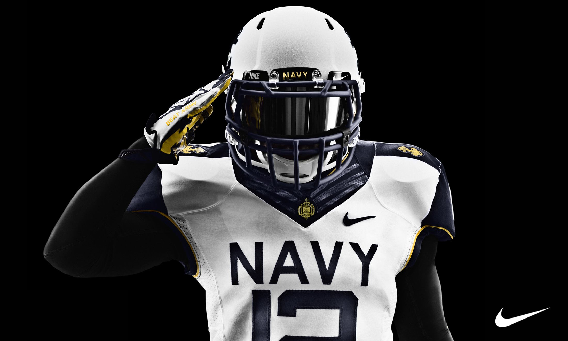Nike Pro Combat Wallpaper Pics Navy Football College Football Uniforms Navy Midshipmen