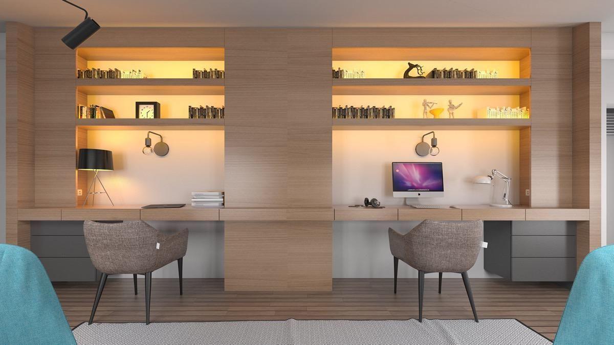Arbeitszimmer Einrichten Hol Dir Die Ikea Ideen Wie Du Dein Homeoffice Einrich Arbeitszimmer Einri In 2020 Office Furniture Layout 2 Person Desk Home Office Design