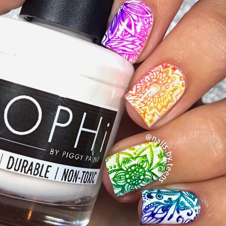 Gradient nails   Stamping nails   Nails   Pinterest   Gradient nails ...