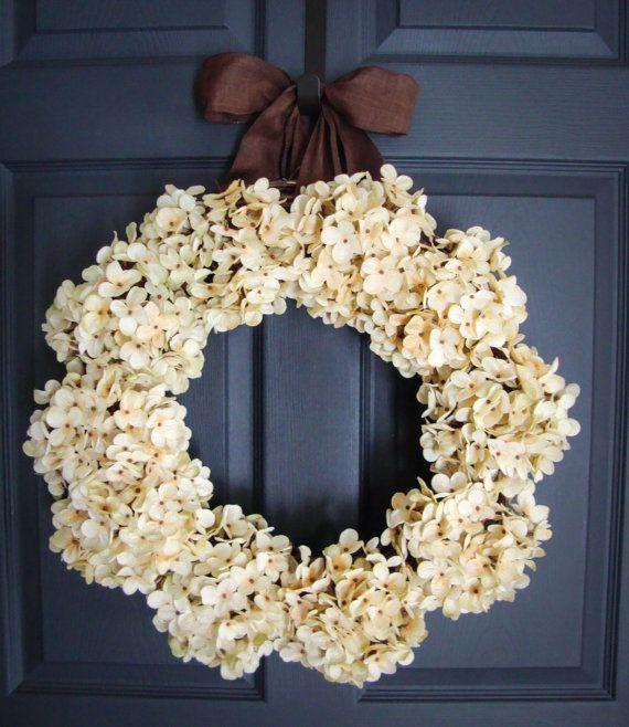 Photo of Hydrangea Wreaths | Wreath | Wedding Wreaths | Front Door Wreaths | Winter Wreaths | Housewarming Gift | Wedding Gift Ideas