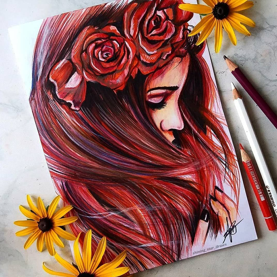 Astchiek Melkonian On Instagram New Drawing Comment What You Think With Stabilo O Art Drawings Sketches Creative Colorful Drawings Color Pencil Art