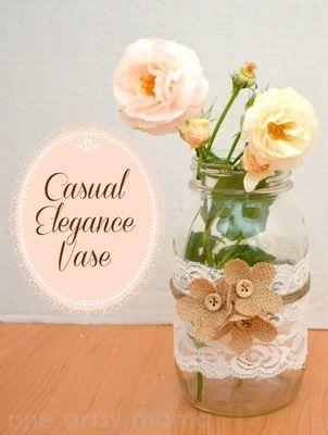14 Floreros de cristal adornados