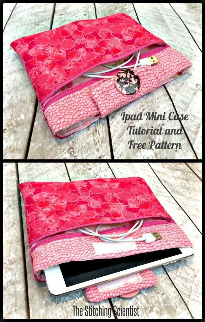 ipad mini case with free pattern n tutorial   free sewing : bags and ...