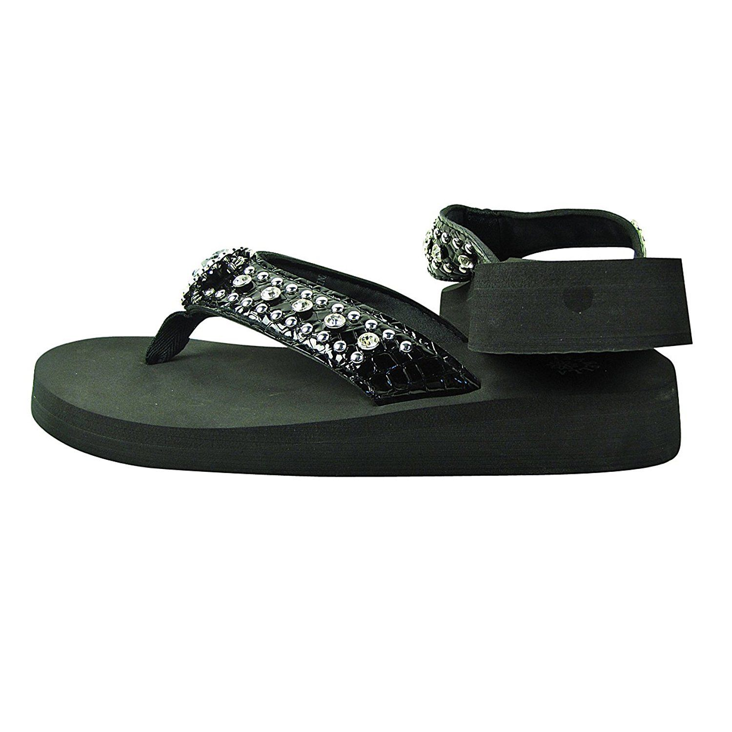 a144b674e7 Women Western Rhinestone Bling Cross Flip Flops Sandals >>> Check this  awesome product by going to the link at the image. (This is an affiliate  link) # ...