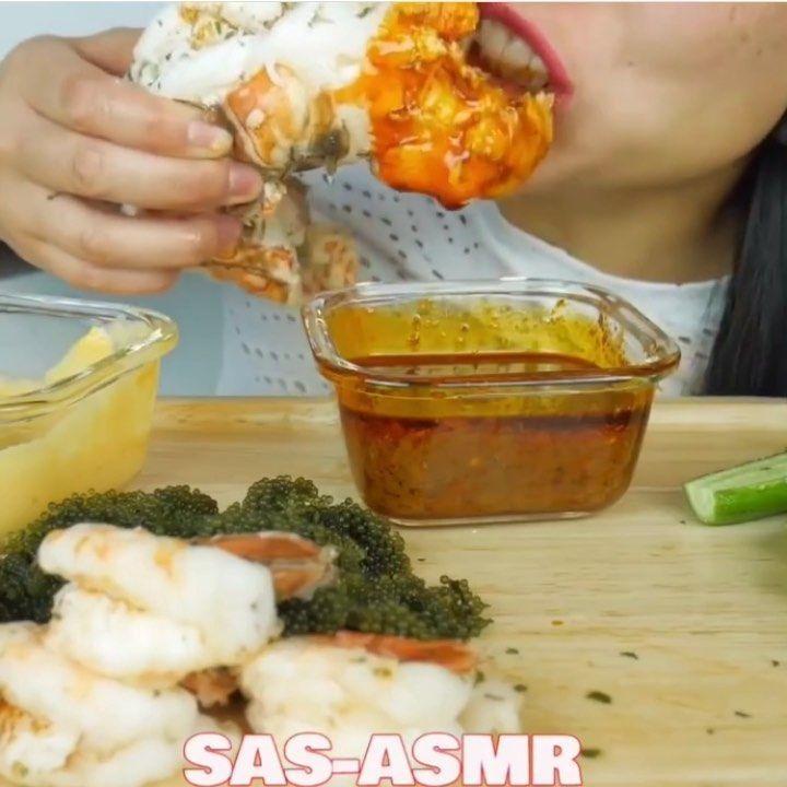 Food : Lobster tail with cajun sauce Credit/YT channel ; SAS ASMR FOLLOW my other acc : @eargasm.hub for more .  #eargasmhub #kwaii #kwaiiapp #kwaiieat #boba #boboaeating #milktea #bubble #bubblemilktea  #mukbang #eat #mukbangers #foodporn #eatingshow #foodshow #foodlover #asmr #asmrlover #asmreating  #love #satisfying #satisyingsounds #relaxingsound #relaxingnoise #food #insta #instagood #instafood #instafoodlover #lobstertail Food : Lobster tail with cajun sauce Credit/YT channel ; SAS ASMR FO #lobstertail
