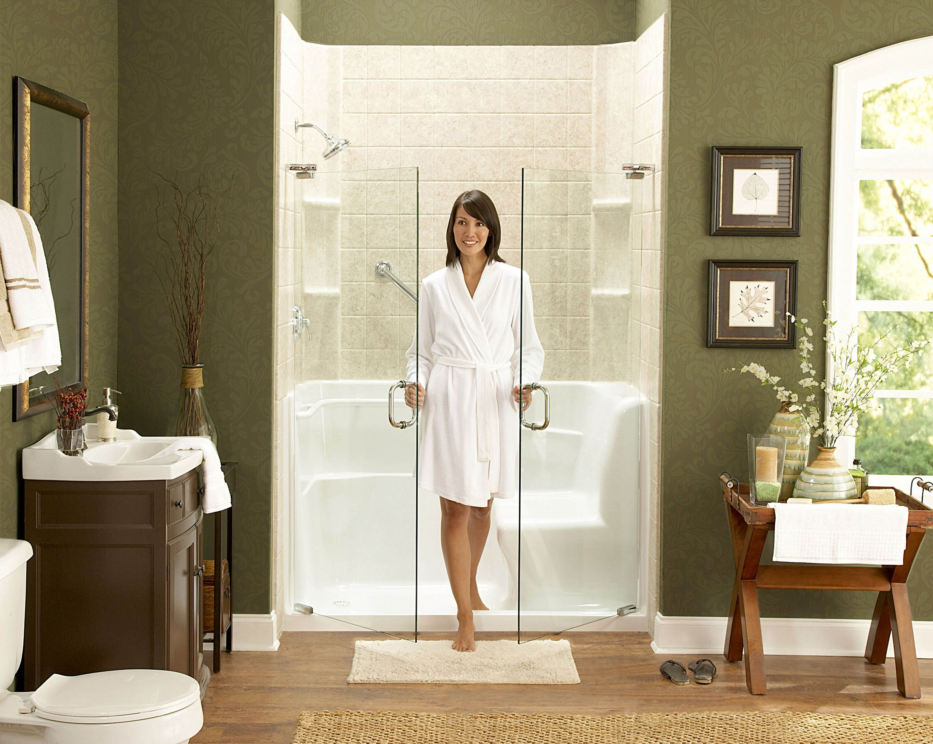 Convert Your Tub Into An Easy Entry Shower | Bath tubs | Pinterest ...