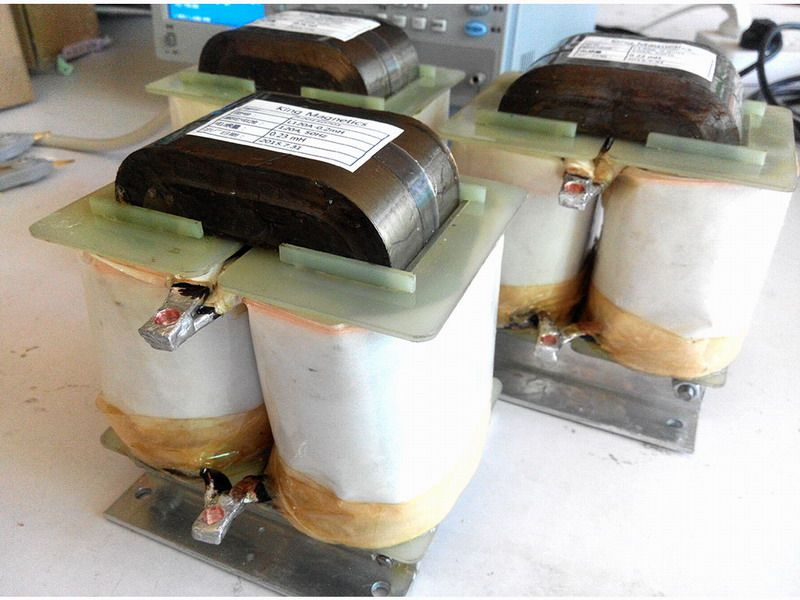 Amorphous inductors made of amorphous c cores are used at