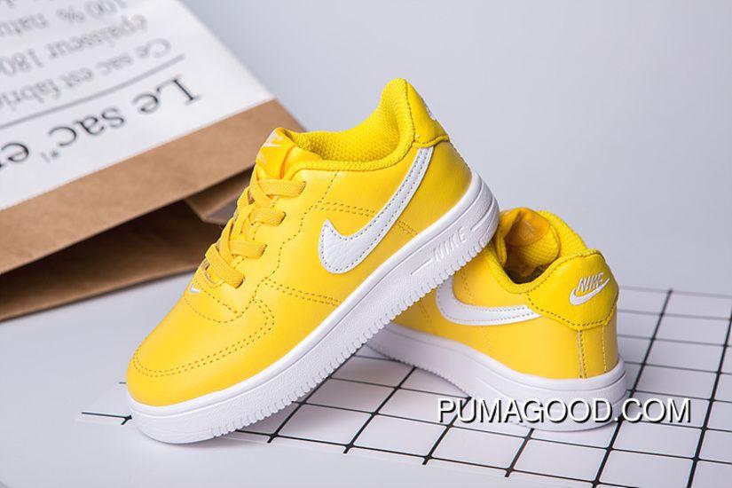 f4ab4b5b8fc 700 22-35 Kids Nike Air Force One Yellow in 2019 | nike air force ...