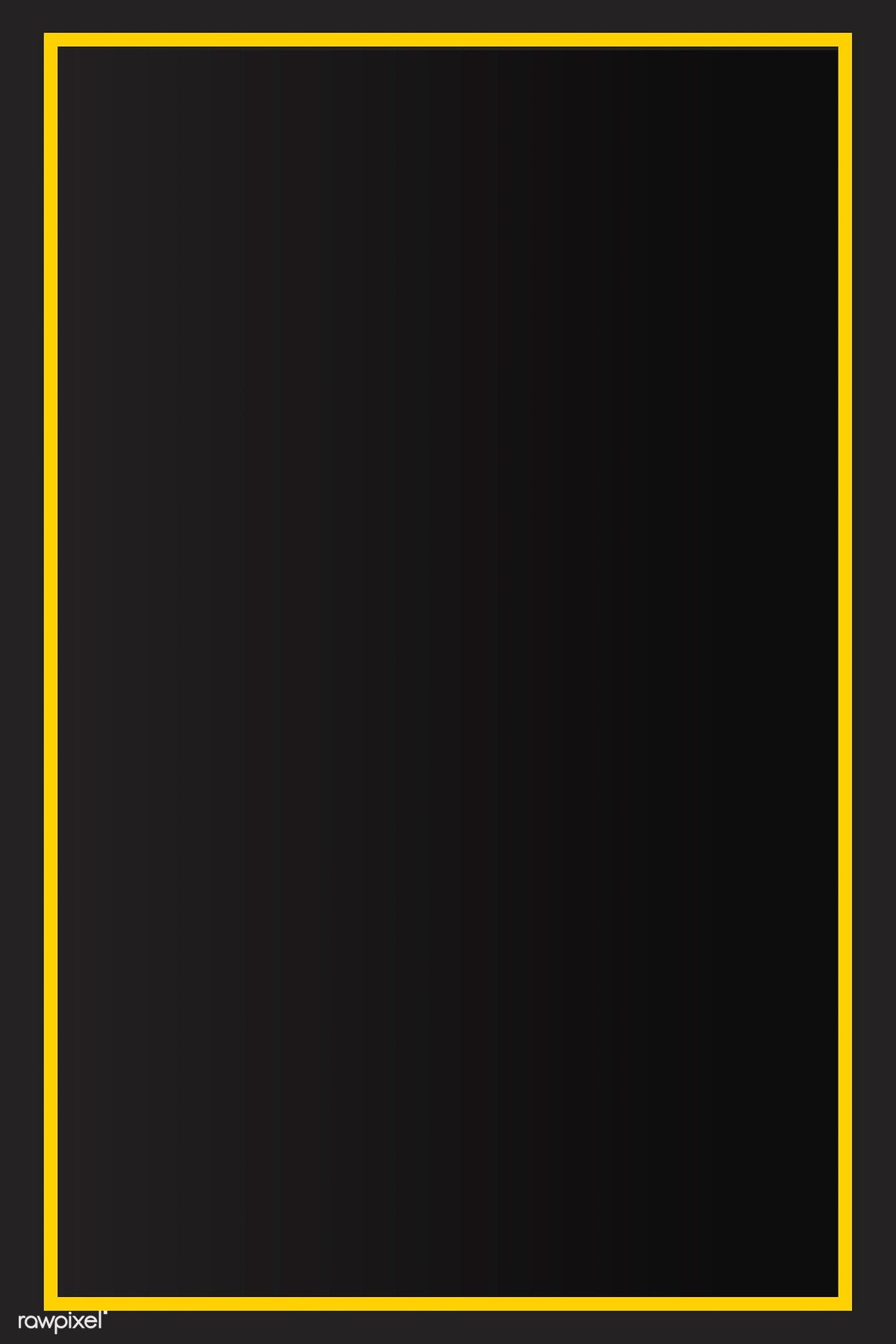 Download Premium Vector Of Yellow Border Black Background Vector