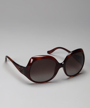 Take a look at this Tortoise Flare Frame Sunglasses by FENDI on #zulily today!