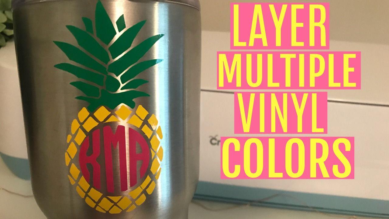 Layer multiple color vinyl decals in cricut design space