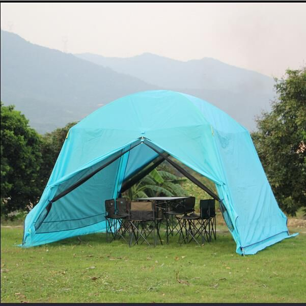 outdoor sun shade awning double large Summer beach party c&ing sun tent 6 waterproof folding gazebo : folding shade tent - memphite.com