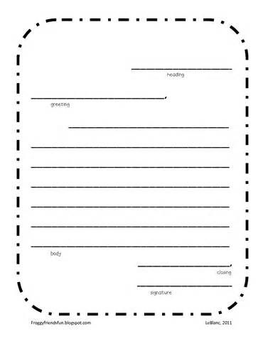 blank letter writing template by
