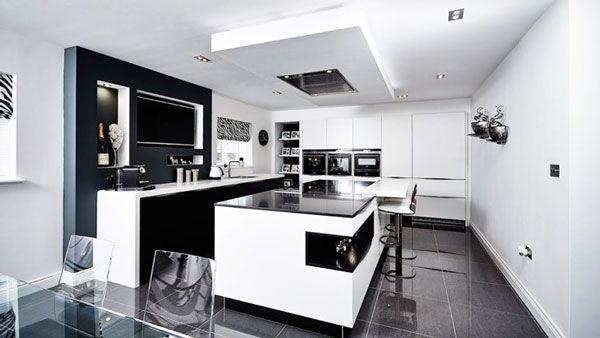 idea design cucina bianca e nera! 20 idee da cui trarre ... - Camera Da Letto Nera E Bianca