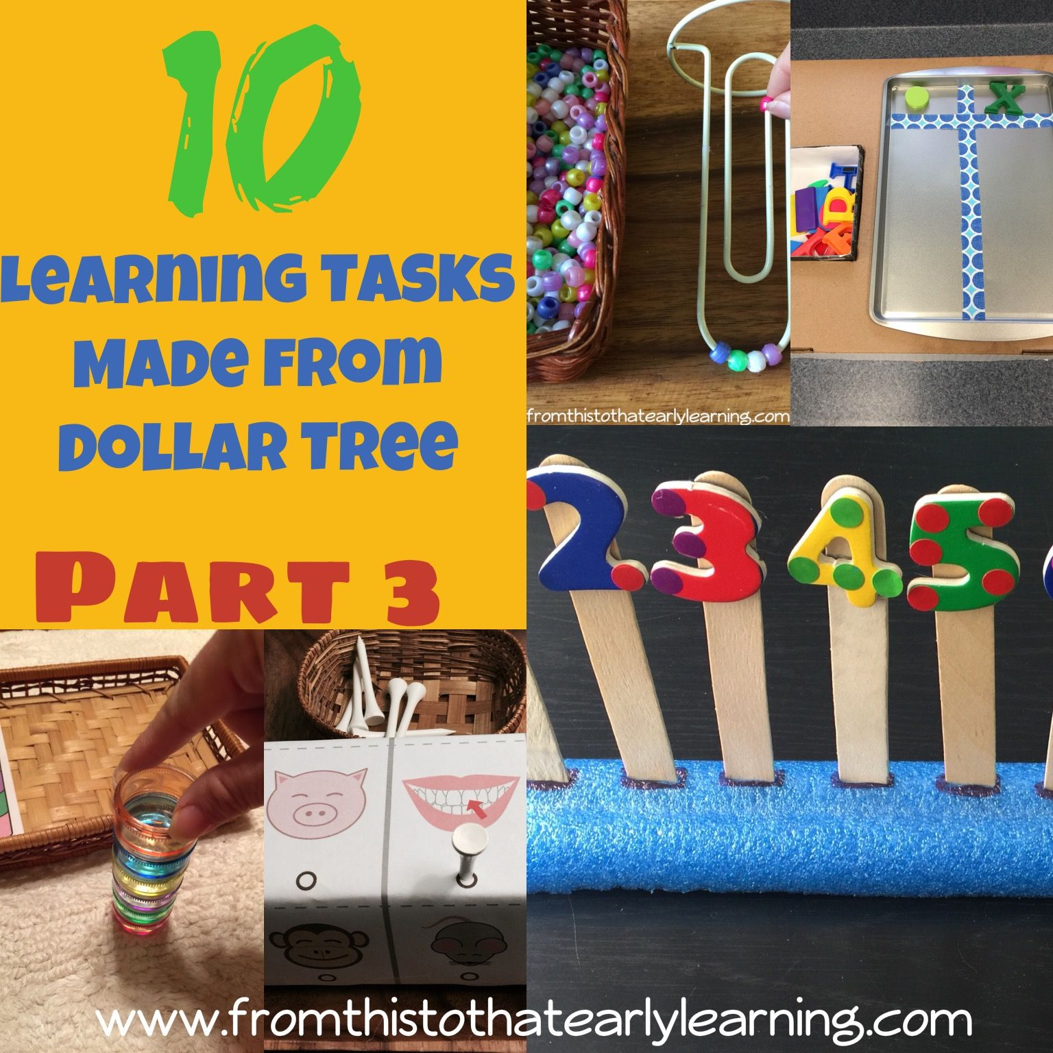 10 Dollar Tree Learning Activities For Children