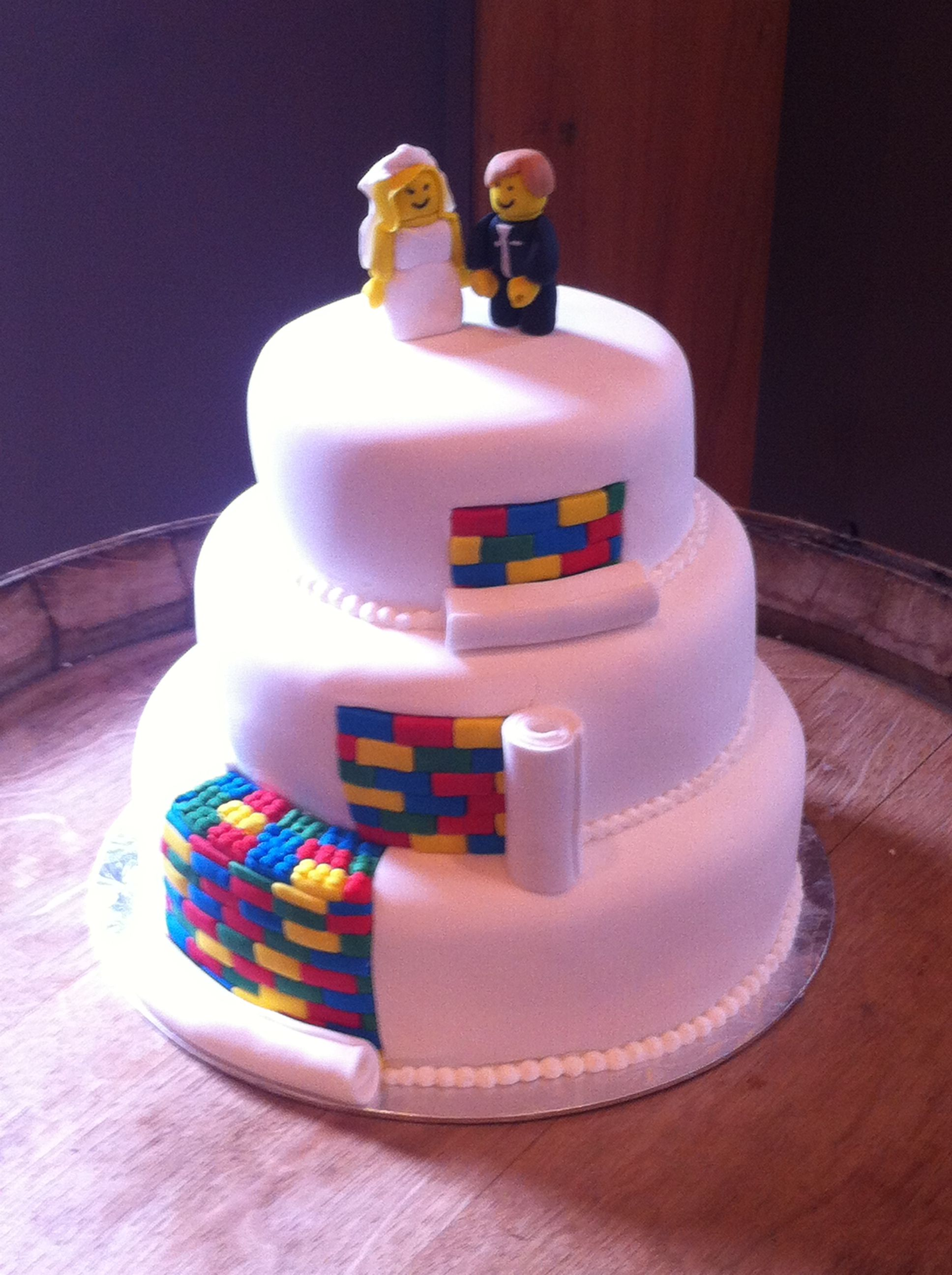 Lego Wedding Cake Tiers of Love Christchurch | Wedding | Pinterest ...
