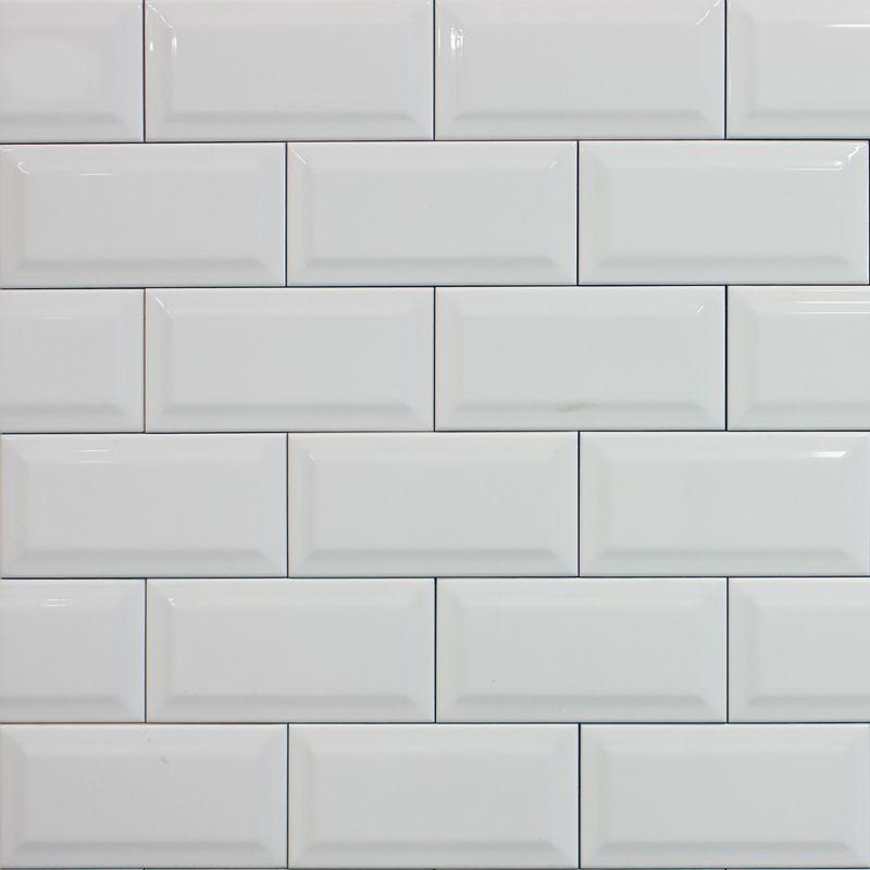 White Metro Tile White Porcelain Tile Backsplash Tile Design
