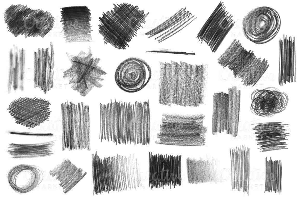Pencil Texture Brushes by Gemma Garner on