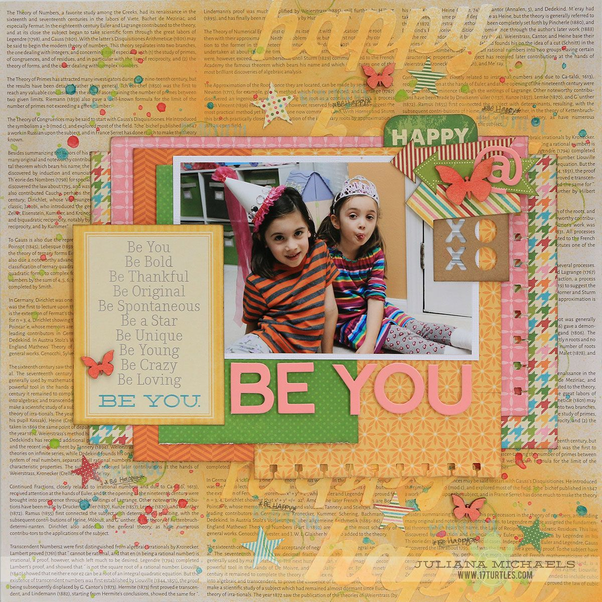 Be You Happy Scrapbook Page By Juliana Michaels Created For The