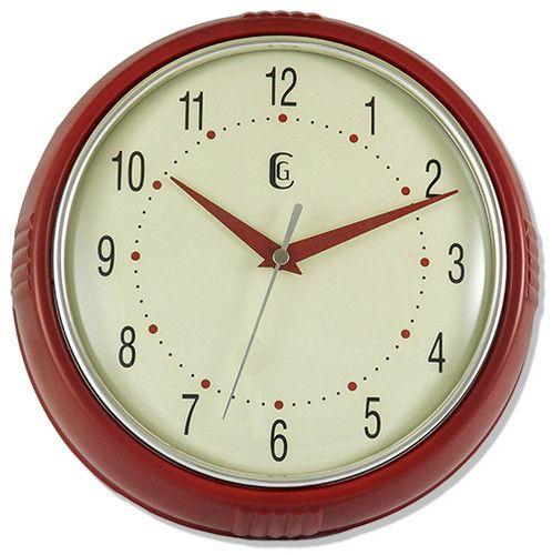 Geneva 4344g Retro 9 5 Quot Quartz Wall Clock Red Ebay 15