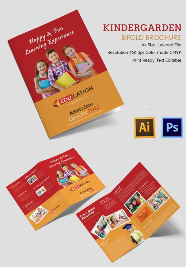 Kindergarten Brochure Templates Free PSD EPS AI InDesign - School brochure templates