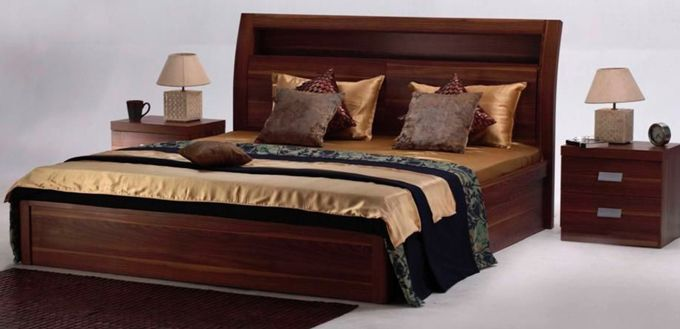 The Natural Finish Of The Aura Bed Set Adds The Warmth Of Wood To The Room Buy Home Furniture Buy Bedroom Furniture Home Furniture Online