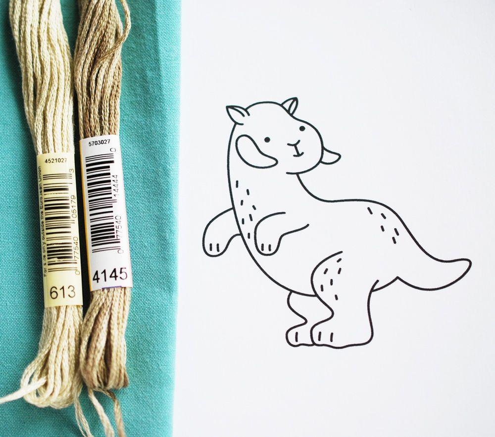 Tauntaun Embroidery Pattern // wild olive #starwars #hoth #maythe4th ...