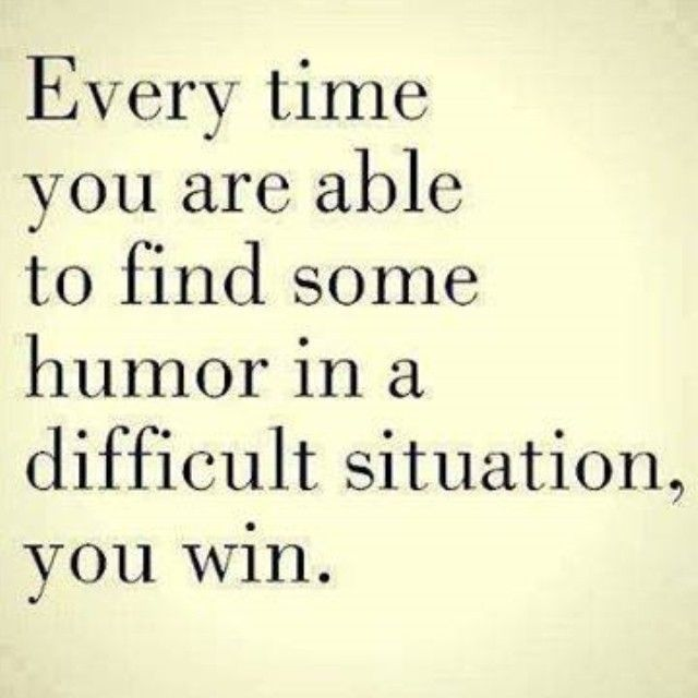 Finding humor in difficult situations
