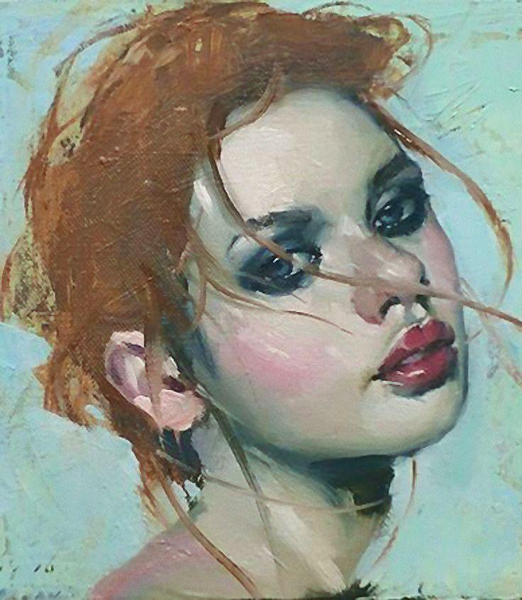 Souvent Malcolm T. Liepke (b. 1953), oil on canvas {figurative art female  TV88