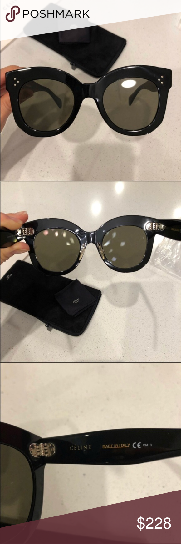45841784f4bcd Celine sunglasses 😎 Celine 41443 s Chris black grey sunglasses New  condition. 100% authentic guaranteed. Sunglasses come with original Celine  case and ...