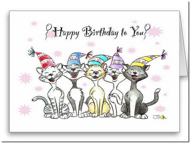 Free Singing Happy Birthday Cards Funny Cats Pinterest
