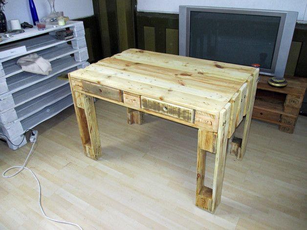 Schreibtisch Tisch Aus Gebrauchten Europaletten