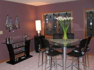 Pinjeana Krome On House Ideas  Pinterest  Modern Basement Awesome Basement Dining Room Inspiration