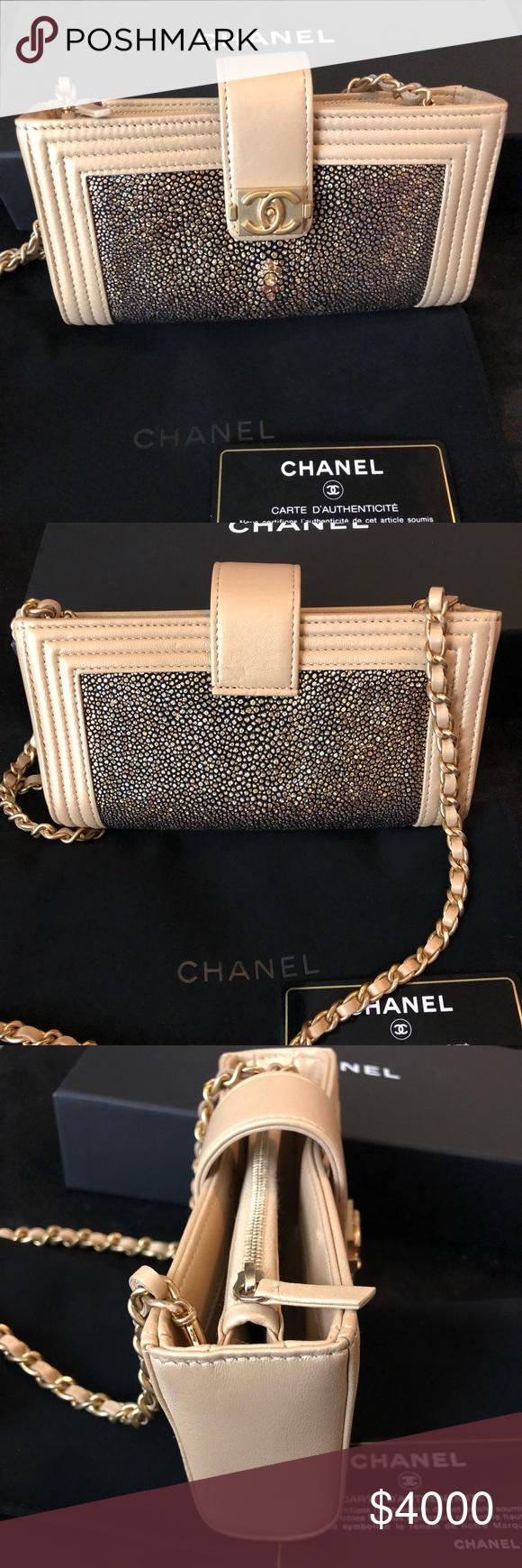 62471341537c05 CHANEL Le Boy Stingray Pochette Wallet on Chain Chanel BRAND NEW & RARE  NWOT 100