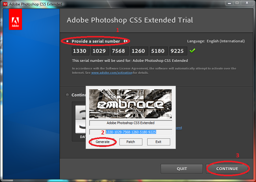 Adobe photoshop cs5 key generator