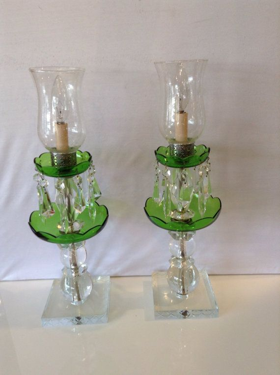 Hey, I found this really awesome Etsy listing at https://www.etsy.com/au/listing/492947136/vintage-pair-electric-glass-hurricane
