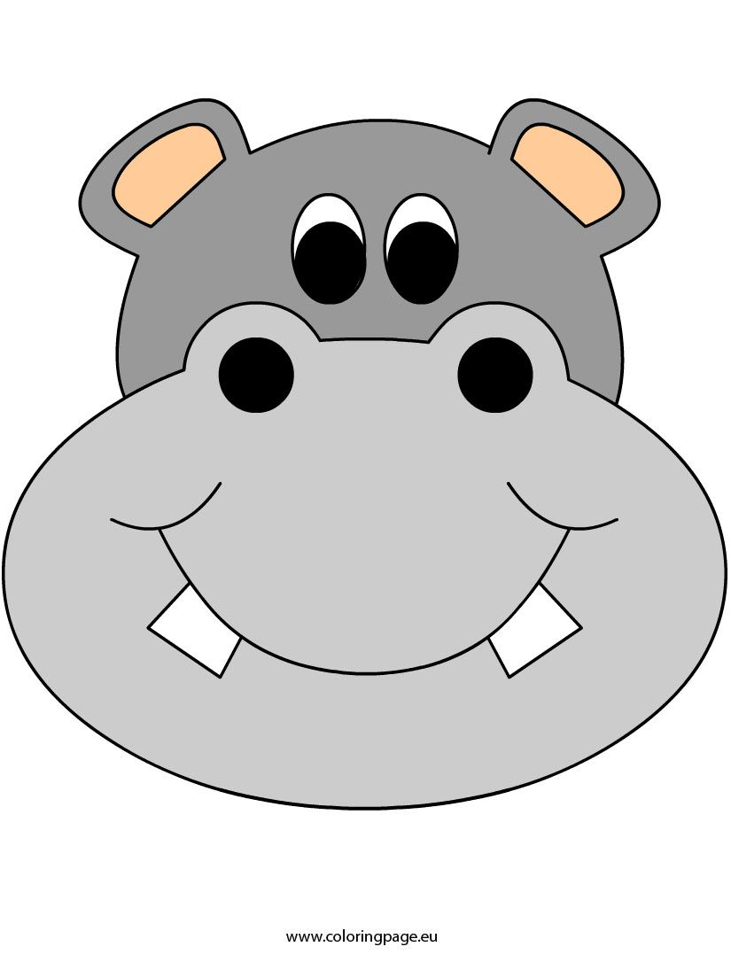 Hippo | Coloring Page | Hippo crafts, Cartoon hippo, Kids ...