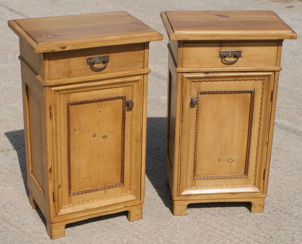 A Super Pair Of Pine Bedside Cabinets - Antiques Atlas - A Super Pair Of Pine Bedside Cabinets - Antiques Atlas Antique